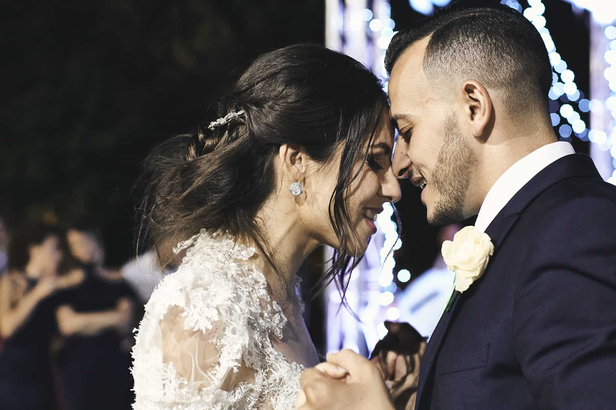 newlywed couple at Malta wedding